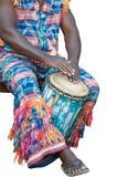 非洲djembe球员 免版税库存照片
