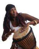 非洲djembe鼓手 库存照片