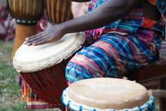 非洲djembe 免版税库存图片