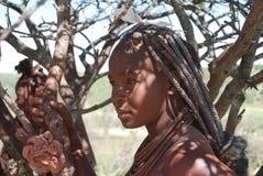 非洲himba当地peolple妇女 免版税库存图片