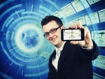 非终止电话技术支持 免版税图库摄影