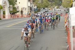 非职业人自行车骑士 免版税库存照片