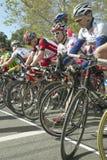 非职业人自行车骑士 图库摄影