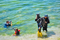 非职业潜水员原来的二 免版税库存照片