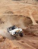 非职业种族在沙漠,夏日 免版税库存照片