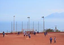 非职业队比赛在安托法加斯塔,智利 免版税图库摄影