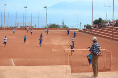 非职业队比赛在安托法加斯塔,智利 免版税库存照片