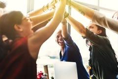 非裔激发灵感运作的工作场所概念 库存图片