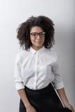 非裔美国人的企业家画象  库存照片