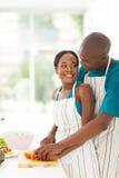 非裔美国人的夫妇 库存图片