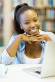 非裔美国人的女大学生 图库摄影