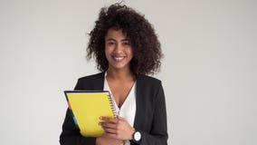 非裔美国人的女实业家待办卷宗 影视素材