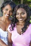 非裔美国人的妇女女孩母亲女儿 库存图片