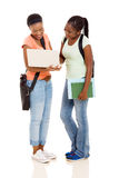 非裔美国人的学生 免版税库存照片