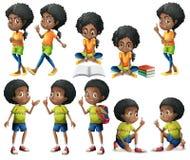非裔美国人的孩子 免版税库存图片