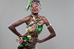 非裔美国人的时装模特儿。 免版税库存图片
