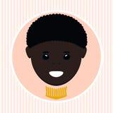 非裔美国人的男孩 也corel凹道例证向量 免版税库存照片