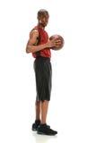 非裔美国人的蓝球运动员 免版税图库摄影
