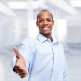 非裔美国人的黑商人 免版税库存图片