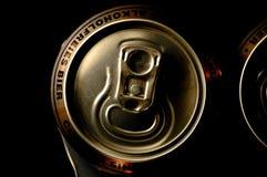 非酒精啤酒罐特写镜头 免版税图库摄影