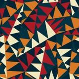 非洲三角无缝的样式 库存图片