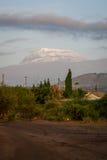 非洲-乞力马扎罗, Kibo山屋顶  图库摄影
