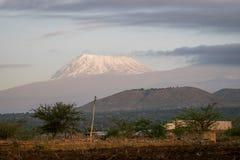 非洲-乞力马扎罗, Kibo山屋顶  库存图片