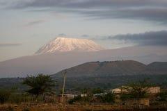 非洲-乞力马扎罗, Kibo山屋顶  免版税库存图片