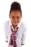 非洲亚裔逗人喜爱的女孩一点 免版税库存照片