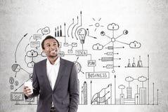 非洲人和企业计划 免版税图库摄影
