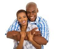 非洲人已婚夫妇 库存图片