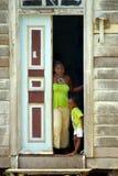 非洲儿童母亲 免版税库存图片