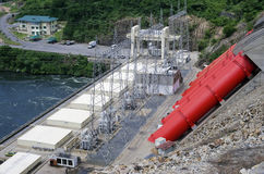 非洲水力发电站 库存图片
