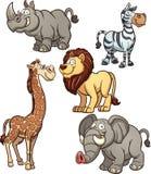 非洲动物 向量例证