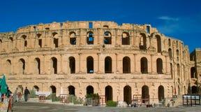 非洲北部colosseum el的jem 库存图片