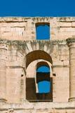 非洲北部colosseum el的jem 库存照片