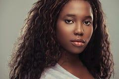 非洲十几岁的女孩 库存照片