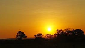 非洲南日落 库存图片
