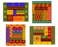 非洲原始几何装饰样式 免版税库存图片