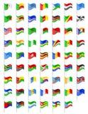 非洲国家传染媒介例证旗子  库存照片