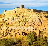 非洲在摩洛哥老contruction和历史村庄 免版税图库摄影