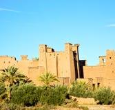 非洲在摩洛哥老contruction和历史村庄 免版税库存照片