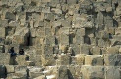 非洲埃及开罗吉萨棉金字塔 免版税库存图片