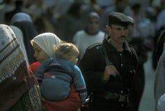 非洲埃及开罗市游人警察 图库摄影