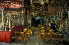 非洲埃及开罗老镇市场茶屋 免版税图库摄影