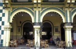 非洲埃及开罗老镇市场茶屋 免版税库存照片