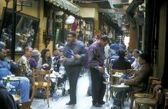 非洲埃及开罗老镇市场茶屋 库存图片