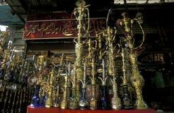非洲埃及开罗老镇市场茶屋 免版税库存图片