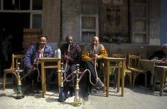 非洲埃及开罗老镇市场茶屋 图库摄影
