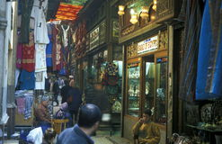 非洲埃及开罗老镇市场 库存照片